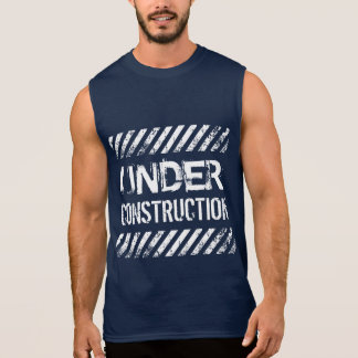 Fitness Under Construction Gym Workout Sleeveless Tee