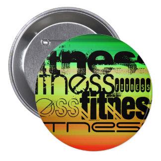 Fitness; Vibrant Green, Orange, & Yellow Button