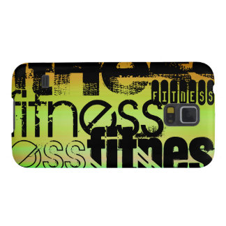 Fitness; Vibrant Green, Orange, & Yellow Case For Galaxy S5