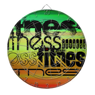 Fitness; Vibrant Green, Orange, & Yellow Dartboard With Darts