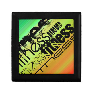 Fitness; Vibrant Green, Orange, & Yellow Gift Boxes