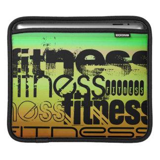 Fitness; Vibrant Green, Orange, & Yellow iPad Sleeve