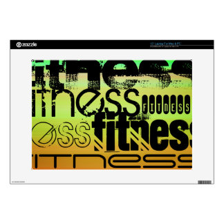 Fitness; Vibrant Green, Orange, & Yellow Laptop Decal