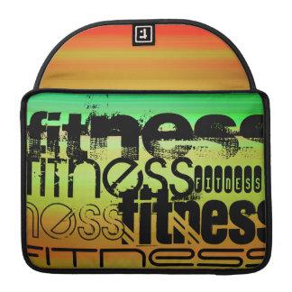 Fitness; Vibrant Green, Orange, & Yellow MacBook Pro Sleeve