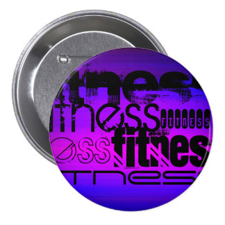Fitness; Vibrant Violet Blue and Magenta Button