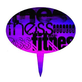 Fitness; Vibrant Violet Blue and Magenta Cake Topper