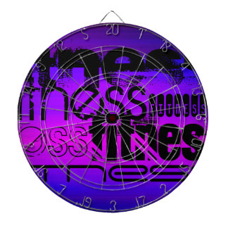 Fitness; Vibrant Violet Blue and Magenta Dartboard