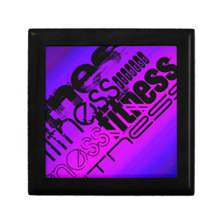Fitness; Vibrant Violet Blue and Magenta Trinket Box