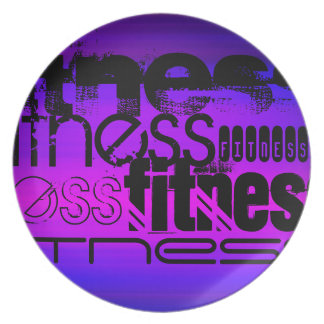 Fitness; Vibrant Violet Blue and Magenta Plate
