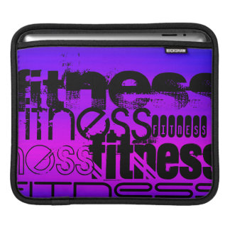 Fitness; Vibrant Violet Blue and Magenta Sleeves For iPads