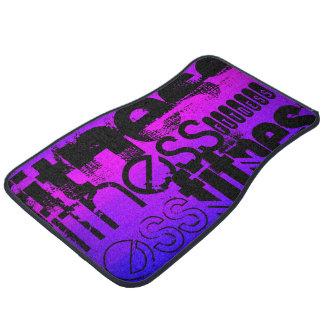 Fitness; Vibrant Violet Blue and Magenta Floor Mat