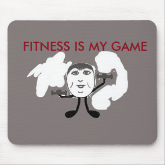 Fitness, Weight Lifting Motivator Mouse Pad