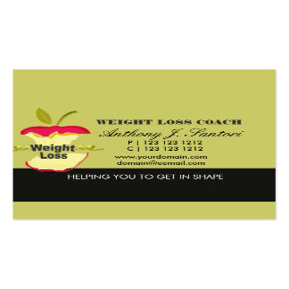 Fitness Weight Loss Coach Dietician Double-Sided Standard Business Cards (Pack Of 100)