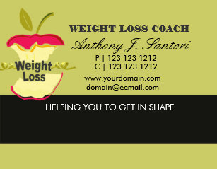 Weight loss business cards templates zazzle fitness weight loss coach dietician business card colourmoves Gallery