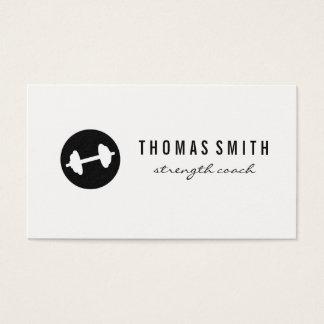 Fitness Weight Minimalist Business Card