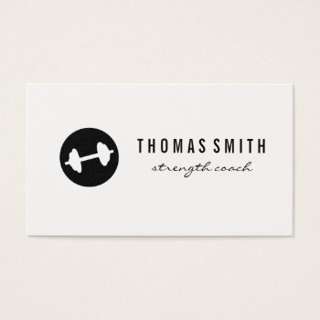 Browse products at zazzle with the theme coaching business cards fitness weight minimalist business card reheart Choice Image