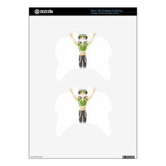 Fitness Woman Training Xbox 360 Controller Skins
