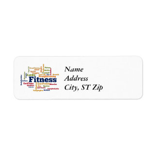 Fitness Word Cloud Label