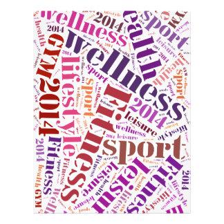 Fitness words flyer