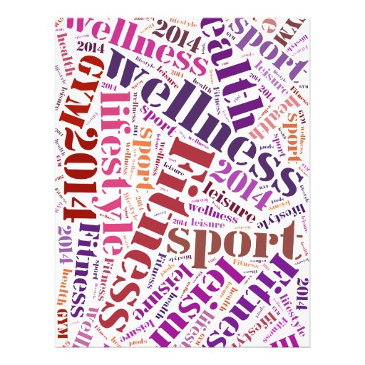 Fitness words full color flyer