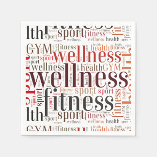 Fitness words napkin