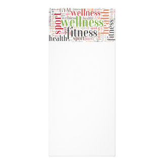 Fitness words rack card
