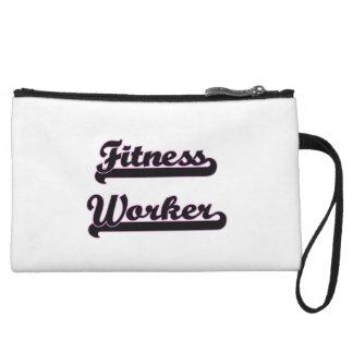 Fitness Worker Classic Job Design Wristlet Clutch