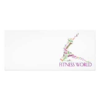 Fitness world rack card