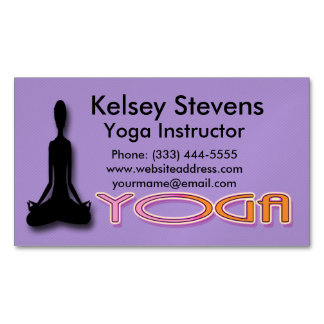 Fitness Yoga Business Card Magnet Magnetic Business Cards (Pack Of 25)