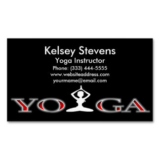 Fitness Yoga Pose Business Card Magnet Magnetic Business Cards (Pack Of 25)