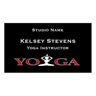 Fitness Yoga Pose Business Card Template