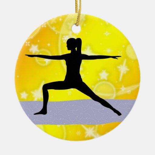 Fitness! Yoga - Warrior - SRF Ornament