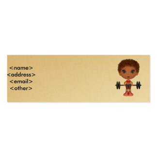 fitnessbuddie2, <name><address><email><other> Double-Sided mini business cards (Pack of 20)