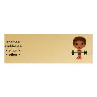 fitnessbuddie2, <name><address><email><other> tarjetas de visita mini
