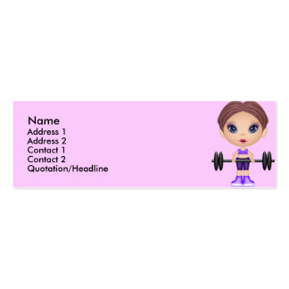 fitnessbuddie, Name, Double-Sided Mini Business Cards (Pack Of 20)