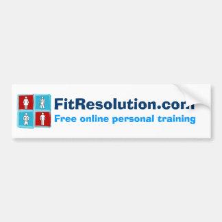 ¡FitResolution - pegatina para el parachoques! Pegatina De Parachoque