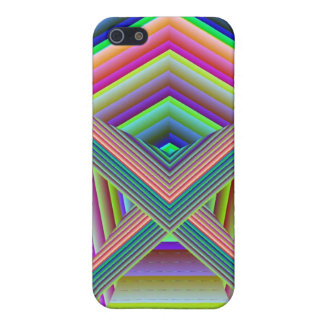 Fitted 4 Digital Rainbow Well iPhone SE/5/5s Cover