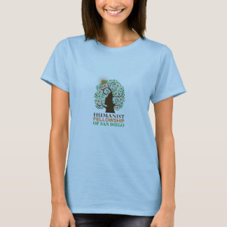 Fitted baby doll shirt with official HFSD logo