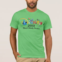 Fitted Disney Logo - Family Vacation T-Shirt