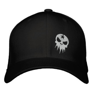 Fitted Embroidered Skull Hat