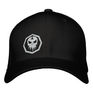Fitted Embroidered Skull Hat Embroidered Hats