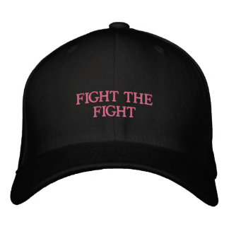 FITTED HAT-Support breast cancer statement Embroidered Baseball Hat
