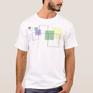 Fitted Houndstooth Abstract Squares - Men's T-Shirt