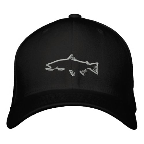 Fitted Trout Tracker Hat _ Black