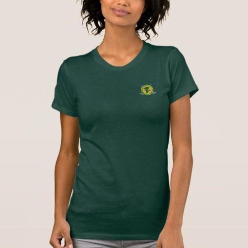 Fitted womens dark green GMCC t_shirt