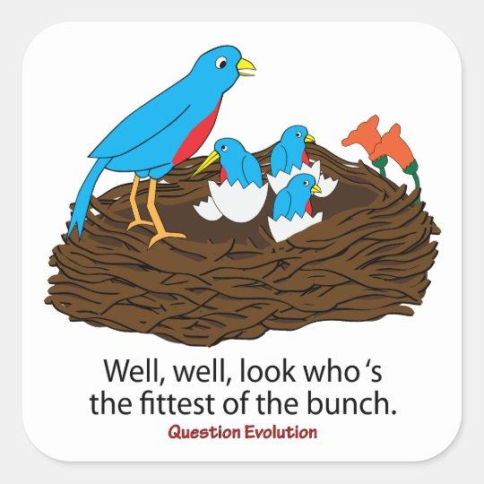 Fittest Bird Square Sticker