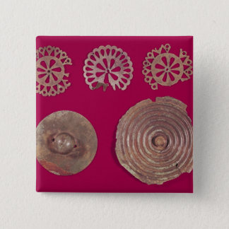 Fittings from a chariot pinback button