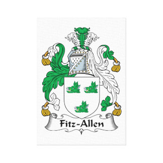 Fitz-Allen Family Crest Gallery Wrapped Canvas