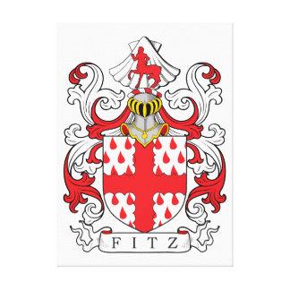 Fitz Coat of Arms II Canvas Print