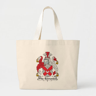 Fitz-Edmonds Family Crest Jumbo Tote Bag